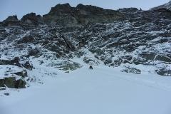 Nástup do Stanislaskeho cesty na Malú snehovú vežu